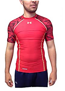 Under Armour Men's Heatgear Compression Training Shirt 1250427 Red Large