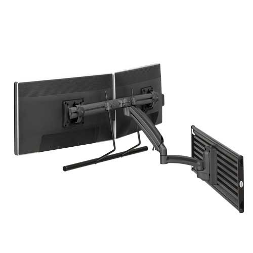 Chief K1S22HB TAA K1 SLAT MNT DUAL DISP 2L ARM H-ARRAY BLK Mnt Dual Wall
