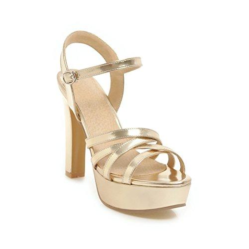 sandali tavoli moda dei golden sandali dei i e sandali 40 signore alla sandali sandali ai tacchi impermeabile alti 64AXqI0n
