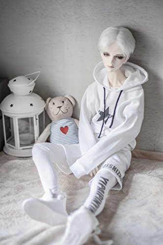 Kuafu 1/3 BJD SD Doll Clothes Printed Street Style Suit White