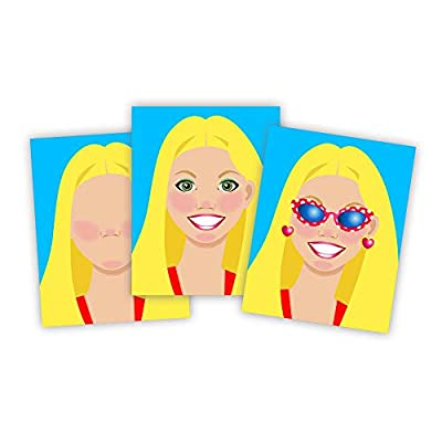 Melissa & Doug Make-a-Face Sticker Pad - Fashion Faces: Melissa & Doug: Toys & Games