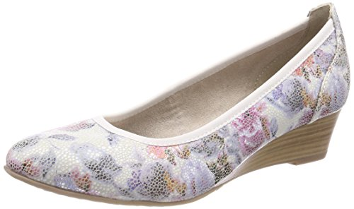 Tamaris WoMen 22304 Closed-Toe Pumps Multicolor (Flower Comb)