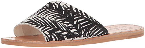 EMBROIDERY Slide Cato WHITE Women's Dolce Vita Sandal BLACK 0tFvpw