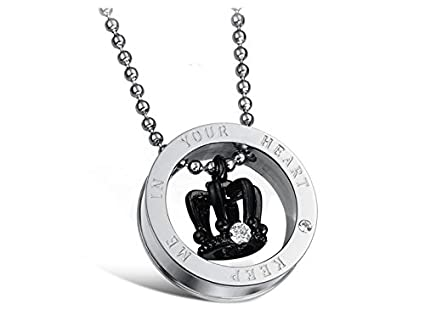 a565ba2a0f Amazon.com : JewelBeauty Stainless Steel Pendant Necklace Matching ...