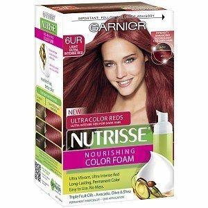 Garnier Nutrisse Nourishing Color Foam Permanent Haircolor, Light Ultra Intense Red 6UR (Pack of 3) ()
