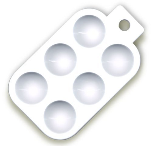 Paint Tray Has 6 Wells For Holding Paints. It's Inexpensive and Cleans Up Easily (Pkg. Of 5)