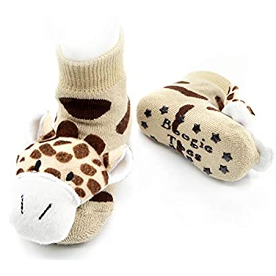 Giraffe Boogie Toes Rattle Sock, 1-Pair: Clothing
