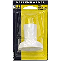 CD366WE Standard Bc Batten Lamp Holder White - HPM - 9321001270935