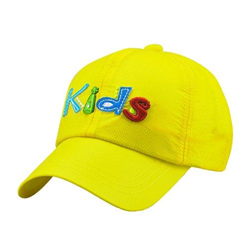 Acvip Sport Baseball Jaune Soleil Cap Garçon Hat Fille Anglais Pour Casquette Chapeau De 88EqrF