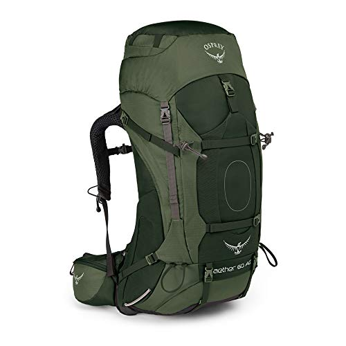 Osprey Aether AG 60 Hiking Backpack Medium Adirondack Green