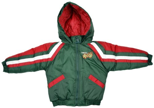 Minnesota Wild NHL Toddlers Hoodied Jacket, Green