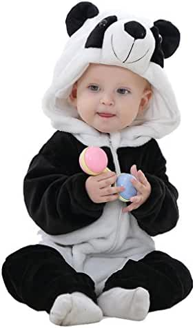 IDGIRL Unisex-baby Winter Flannel Romper Outfits Suit