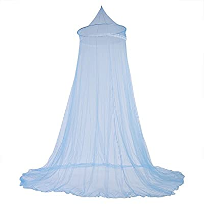 Fdit Bed Mosquito Netting Bed Canopy Curtains Elegant Lace Princess Kids Canopy Curtain for Girls Room Bedding