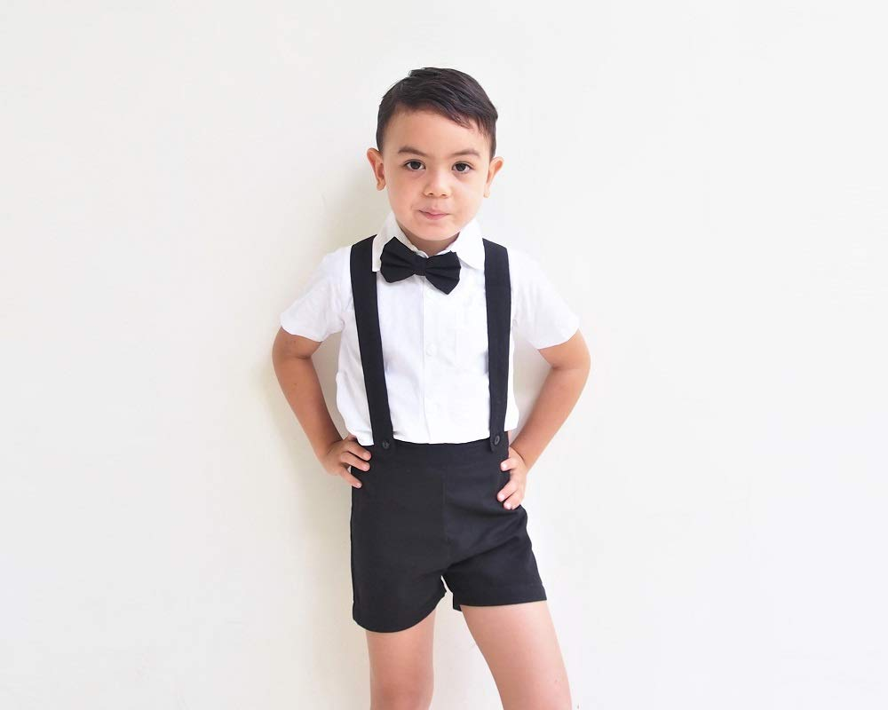 4a1a26b77 Boy Suspender Shorts - Black, Boy Linen Shorts, Boy Linen Shorts, Linen  Pants, Pageboy, Christening Outfit, Ring Bearer outfit, Baptism outfit, boy  suit ...