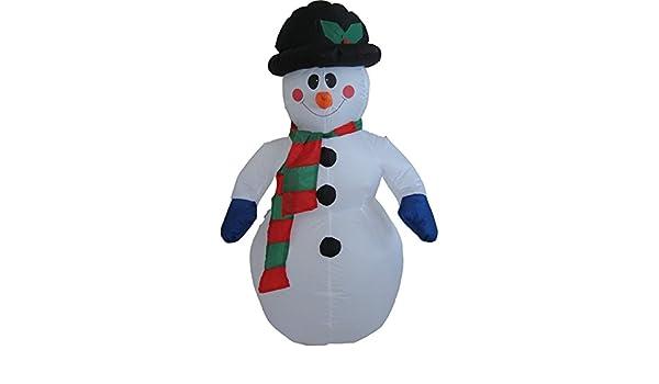 Snowtime iluminado hinchable inflable muñeco de nieve de ...