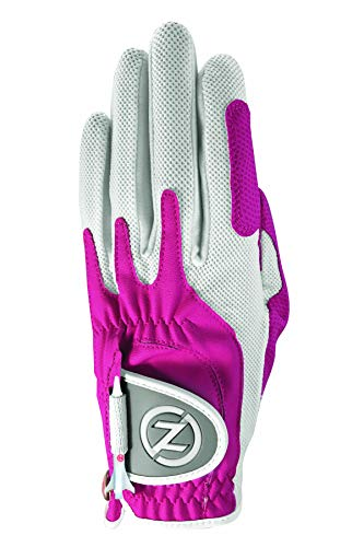 Zero Friction Women's Golf Gloves, Left Hand, One Size, Pink