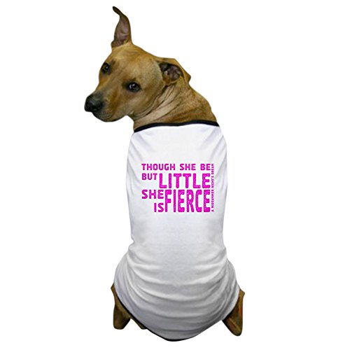[CafePress - She is Fierce - Stamped Pink Dog T-Shirt - Dog T-Shirt, Pet Clothing, Funny Dog Costume] (Shakespeare Midsummer Nights Dream Costumes)