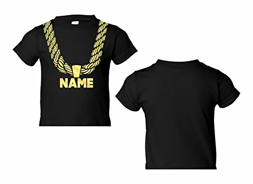 Toddler Gold Chain T-Shirt, Hip-Hop Your Custom Personalized Name