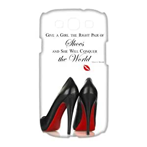 """Unique Design Marilyn Monroe Samsung Galaxy S3 I9300/I9308/I939 Cover Case-""""Give a girl the right pair of shoes and she will conquer the world !"""""""