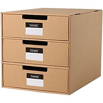 Amazon Com Tianse Cardboard Drawer Box Magazine Holder