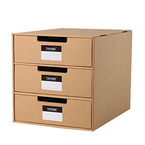 Tianse Cardboard Drawer Box Magazine Holder Desk