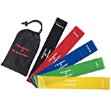 Fitness Dreamer Resistance Bands, Exercise Loop bands and Workout Bands by Set of 5, 12-inch Fitness Bands for Training or Physical Therapy-Improve Mobility and Strength, Life Time Warranty