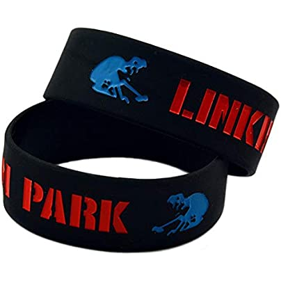 DuDuDu Silicone Bracelets with Sayings Linkin Park Rubber Wristbands for Men Encouragement Set Piecesbirthday Gift Estimated Price £24.99 -