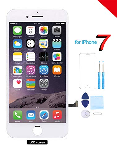 Coobetter for iPhone 7 Screen Replacement A1660 /A1778 /A1779 White LCD 3D Touch Screen Digitizer Display with Free Repair Tool Kits + Free Screen Protector