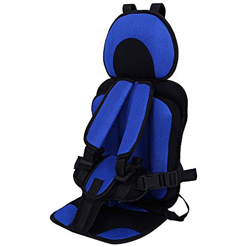 Breathable Adjustable Children Car Seat Cushion Comfortable Thickening Car Seat Protector Cover Cushion Pad Pillow Neck Support Cushion Pad and Seatbelt for Most Car, Truck, SUV (Navy Blue)