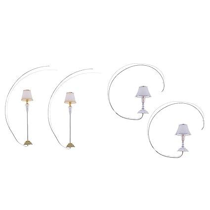 Amazon.es: NON Sharplace 4pcs G Escala Mini Modelos Lámpara ...