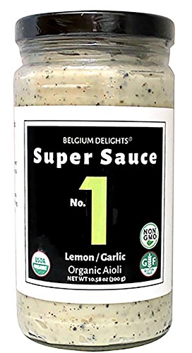 Lemon Sauce Mustard (Belgium Delights Super Sauce No.1 Lemon Garlic Aioli Certified Organic)