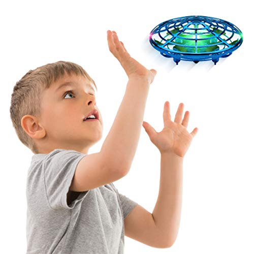 Hand Operated Drones for Kids or Adults - Scoot Hands Free Mini Drone Helicopter, Easy Indoor Small Orb Flying Ball Drone Toys for Boys or Girls (Blue) from Force1