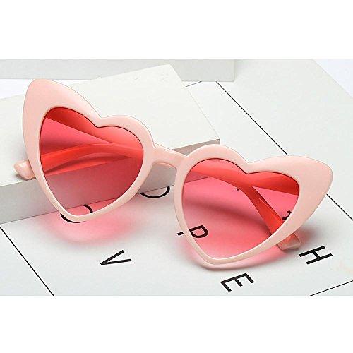 ligero corazón las niñas mujeres Con talla de AOLVO espejo UV400 de sol forma para HD marco de gafas nbsp;Negro plástico gafas Cute C7 única C5 Retro qwwTCz