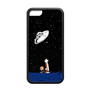 LJF phone case LeonardCustom- Calvin and Hobbes Protective Hard TPU Rubber Coated Phone Case Cover for iPhone 5C -LCI5CU398