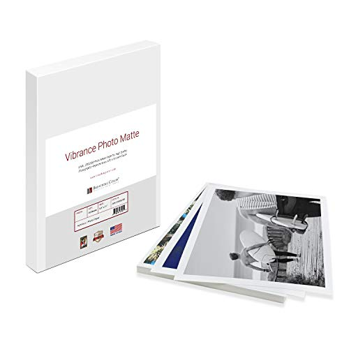 Vibrance Matte Photo Printer Paper 12 mil 255 gsm Premium Matte Photo Paper Sheets 13 x 19 inches 50 sheets Works with All Inkjet Printers Including Professional Makes and Models Like Epson Canon HP (13 X 19 Paper Photo)