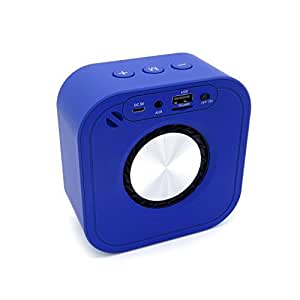 Portable Bluetooth Speakers Bluetooth Speaker Portable Waterproof Speaker FOR Home Office Car ( 10.8 Cm 10.8 Cm 5.5 Cm) ( Color : Blue )