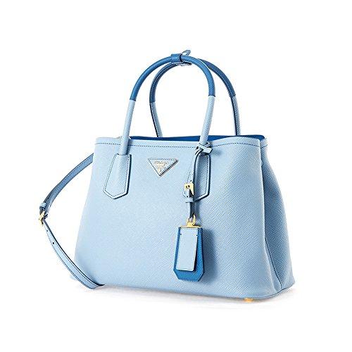 Prada Women's Saffiano Cuir Blue Handbag 1BG887 - Prada Blue Handbag
