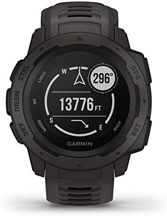 Garmin Instinct, GPS Watch, Graphite, Refurbished