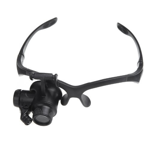 Good-Market-1pcs-10X-15X-20X-25X-Watch-Repair-Glasses-Eyewear-Magnifier-Loupe-with-LED-Single-Eye-Magnifier