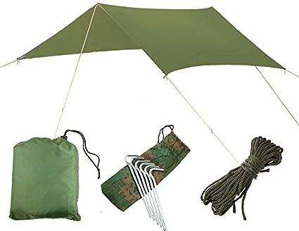 3 m x 3 m IMPERMÉABLE RIPSTOP Rain Fly Hammock Tarp Housse Tente Abri Bâche