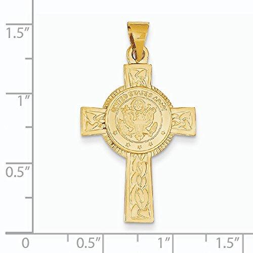 Or 14ct Armée Insignia Croix Pendentif-Dimensions 28x 28x 20mm