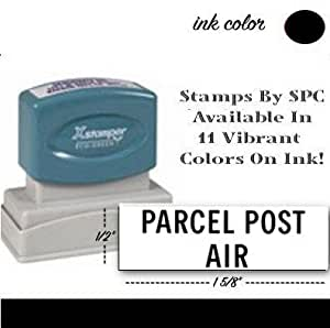 stamps by spc xstamper design parcel post air spc1809 color black. Black Bedroom Furniture Sets. Home Design Ideas