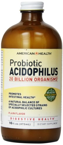 American Health Probiotic Acidophilus, Plain, 16 Ounce -