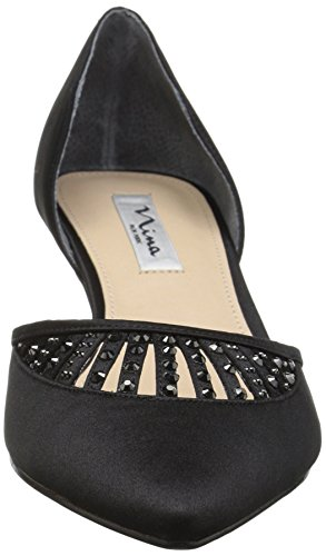 Satin Ls Pump Nina Dress Women's Luster Black Tamay fqzwHpB