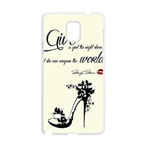 Give A Girl The Right Shoes Fashion Comstom Plastic case cover For Samsung Galaxy Note4
