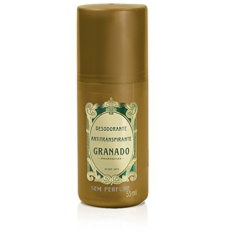Linha Antisseptica (Sem Perfume) Granado - Desodorante Antitranspirante Roll On 55 ML - (Granado Antiseptic (Fragrance Free) Collection - Antiperspirant Roll-on Deodorant 1.85 Fl Oz)