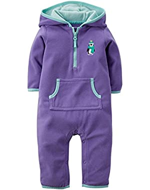 Baby Girls' Hooded Romper (Baby)