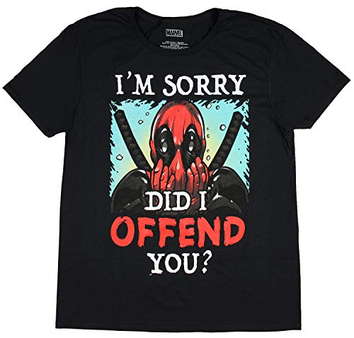 Marvel Deadpool I'm Sorry Did I Offend You Mens Tee Shirt (X-Large 46-48) Black]()
