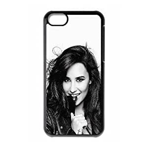 iPhone 5C Phone Case Funda Negro Demi Lovato En Bw X8V8JG teléfono celular cubiertas protectoras