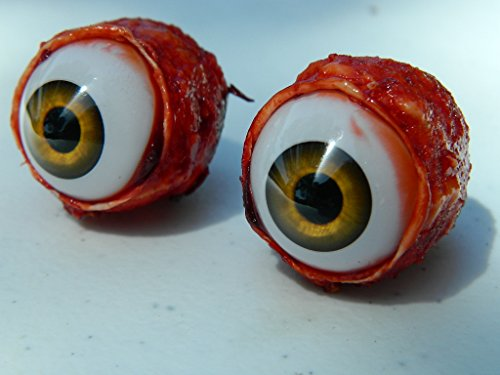 (Pair of Realistic Life size Bloody Eye Poppers for Masks or Skulls - Halloween props - FE01)